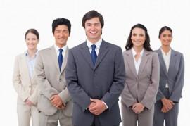 Smiling-sales-team
